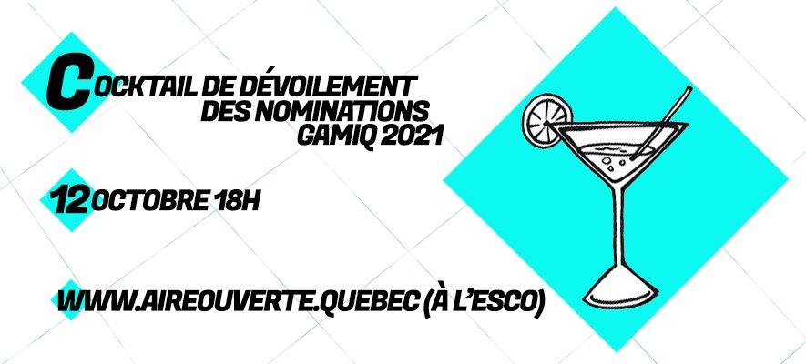 3 nominations au GAMIQ